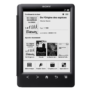 Vista frontal del ebook reader